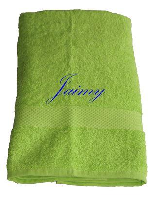 Afbeeldingen van Handdoek Groen geborduurd met Naam