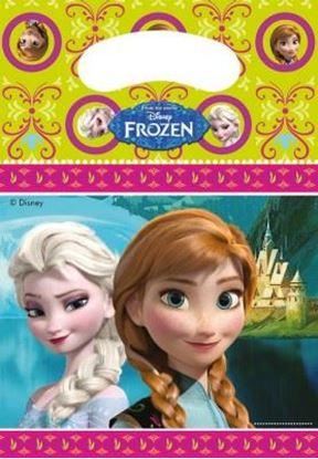 Afbeeldingen van Uitdeelzakjes Frozen Roze