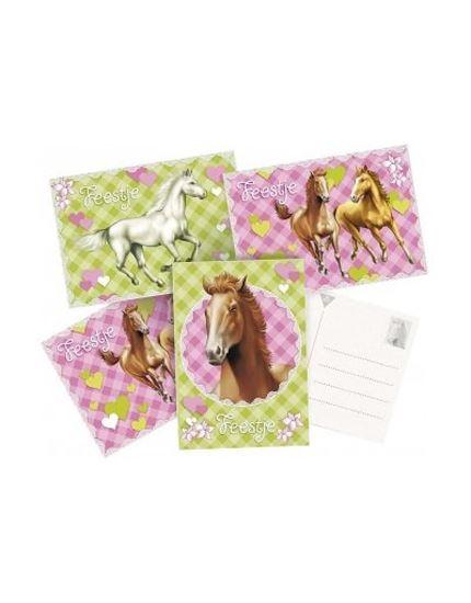 Afbeelding van Uitnodigingskaart Paarden
