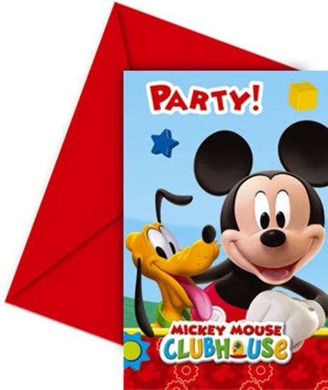 Afbeelding van Uitnodigingen Mickey Mouse