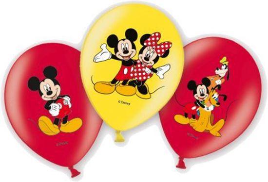 Afbeelding van Ballonnen 6 st. Mickey Mouse