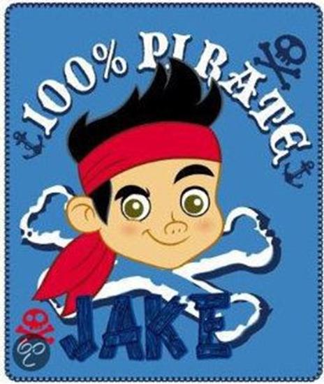 Afbeelding van Disney Jake en de nooitgedachtland piraten Fleecedeken