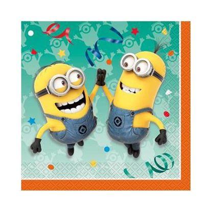 Afbeeldingen van Servetten Minions Geel klein (Despicable Me)