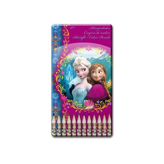 Afbeelding van Disney Frozen 12 stuks kleurpotloden in doosje