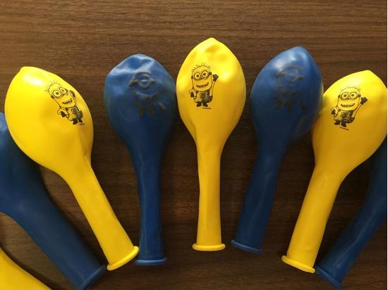 Afbeelding van Ballonnen Minions geel/blauw (Despicable Me)