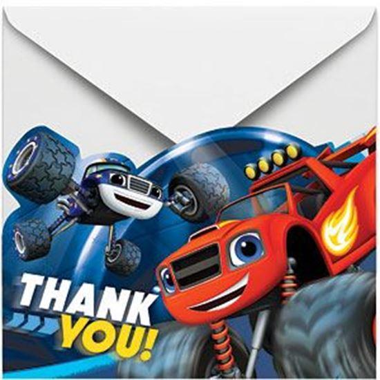 Afbeelding van Blaze en de Monsterwielen bedankkaartjes