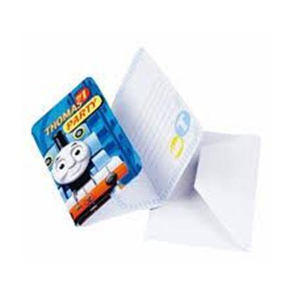 Afbeeldingen van Thomas uitnodigingen blauw