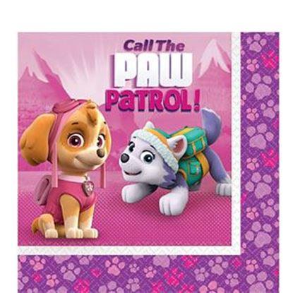 Afbeeldingen van Servetten Paw Patrol roze