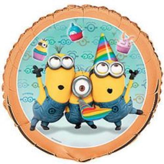 Afbeelding van Heliumballon feest Minions (Despicable Me)