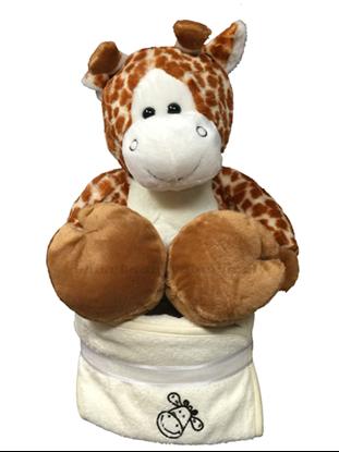 Afbeeldingen van Luiertaart giraf met badcape