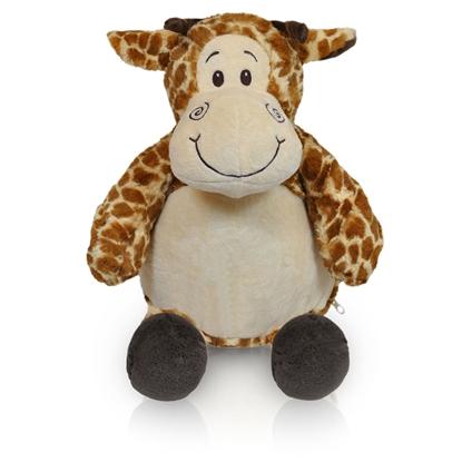 Afbeeldingen van Zippies Giraf geborduurd met Naam