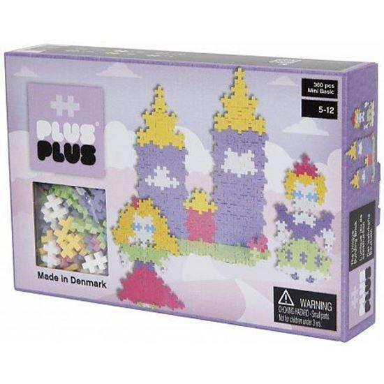 Afbeelding van Plus-Plus Mini 360 Pastel 3 in 1 pakket kasteel