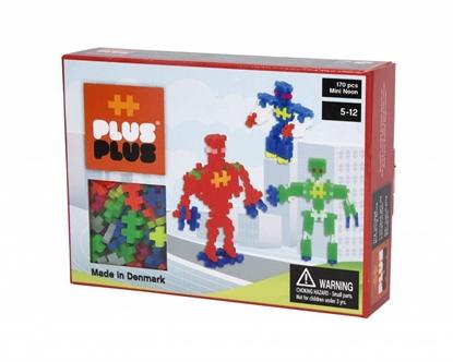 Afbeeldingen van Plus-Plus Mini 170 Neon 3 in 1 pakket Robots