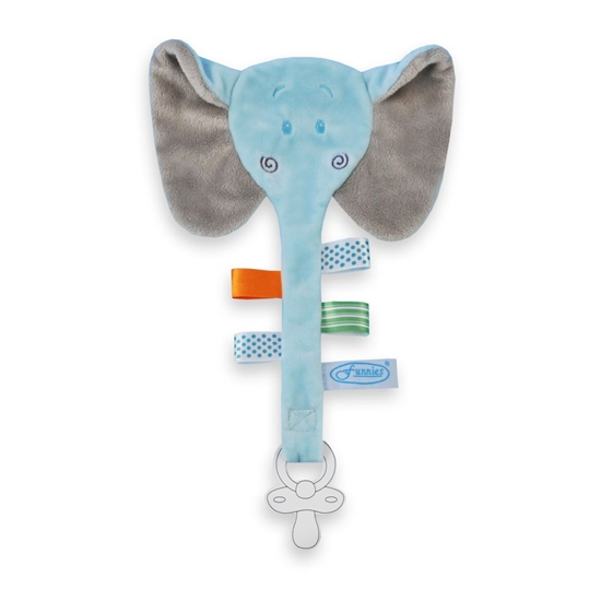 Afbeelding van Speendoek Olifant blauw