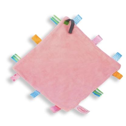 Afbeeldingen van Labeldoek speen roze