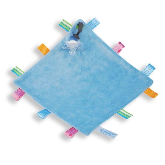 Afbeelding van Labeldoek speen blauw