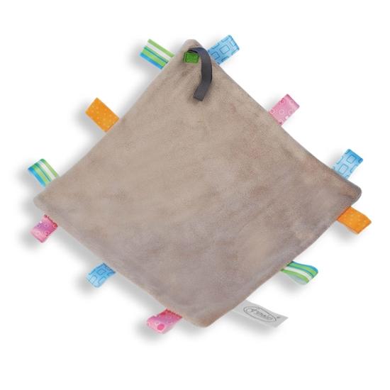 Afbeelding van Labeldoek speen grijs