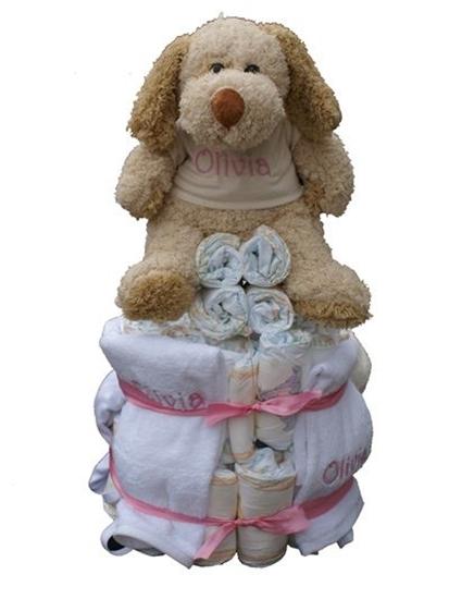 Afbeelding van Luiertaart kleine knuffel deluxe met Naam