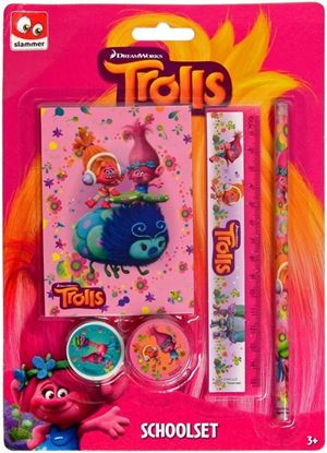 Afbeeldingen van Trolls schoolset 5 delig