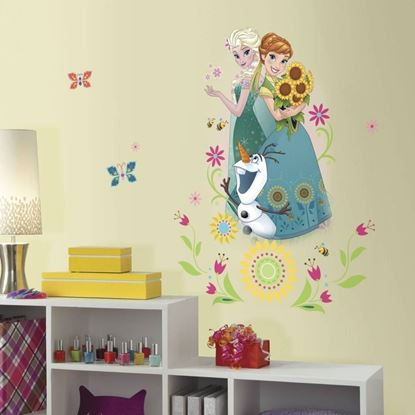 Afbeeldingen van Muursticker Frozen Fever RoomMates: group