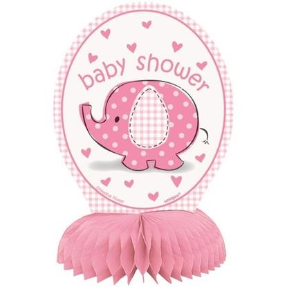 Afbeeldingen van Babyshower tafeldecoratie Olifant Roze