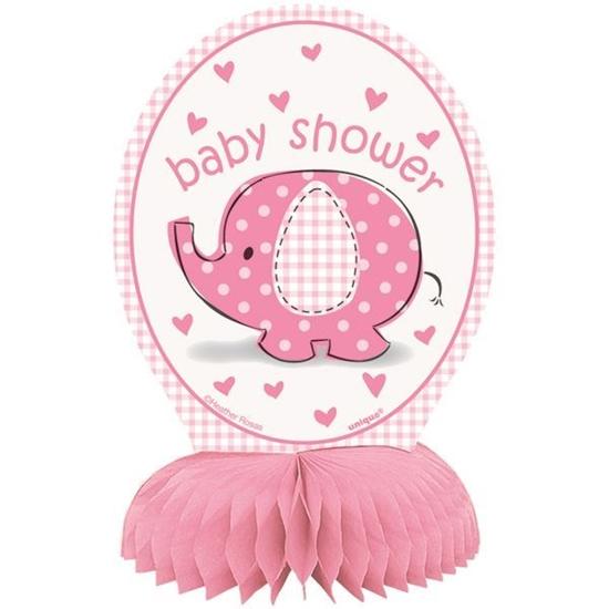 Afbeelding van Babyshower tafeldecoratie Olifant Roze