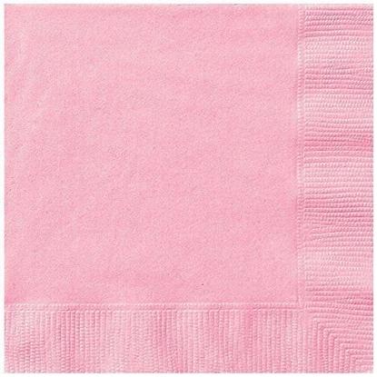 Afbeeldingen van Babyshower servetten licht roze
