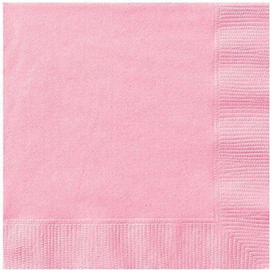 Afbeelding van Babyshower servetten licht roze