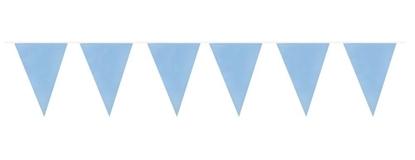 Afbeeldingen van Vlaggenlijn baby blauw 10 meter