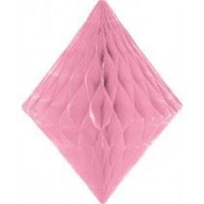 Afbeeldingen van Babyshower honeycomb diamant roze