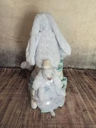 Afbeelding van Luiertaart konijn blauw Happy Horse