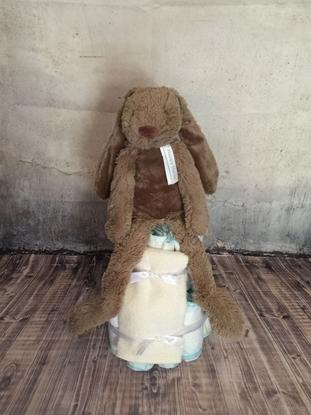 Afbeeldingen van Luiertaart konijn bruin Happy Horse