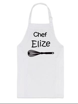 Afbeeldingen van Keukenschort (kind) Wit Chef