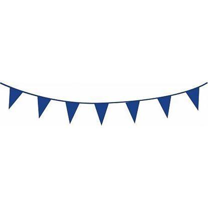 Afbeeldingen van Vlaggenlijn blauw 10 meter