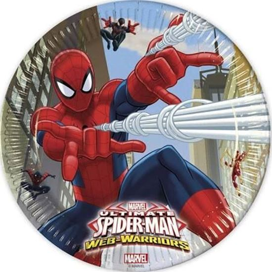 Afbeelding van Spiderman bordjes 23cm
