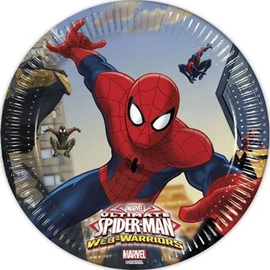Afbeelding van Spiderman bordjes 19cm