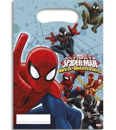 Afbeelding van Spiderman Uitdeelzakjes
