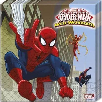 Afbeeldingen van Spiderman servetten