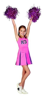 Afbeeldingen van K3 Cheerleader jurkje met gratis pompons