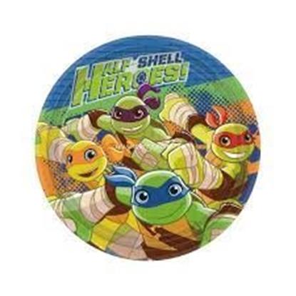 Afbeeldingen van Bordjes 18cm 8 st. Turtles