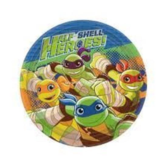 Afbeelding van Bordjes 18cm 8 st. Turtles