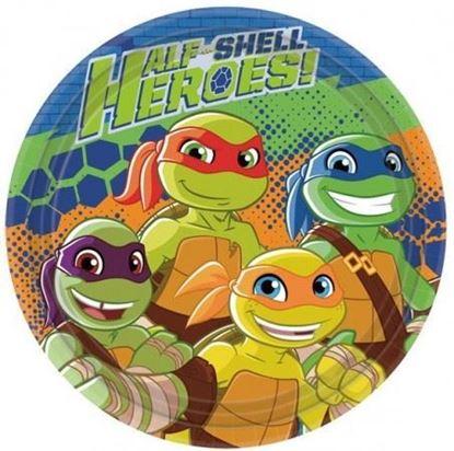 Afbeeldingen van Bordjes 23cm 8 st. Turtles