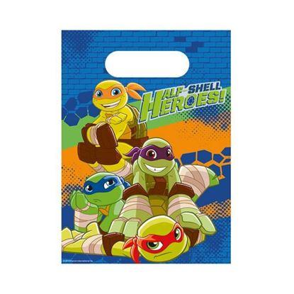 Afbeeldingen van Uitdeelzakjes Ninja Turtles 8 stuks