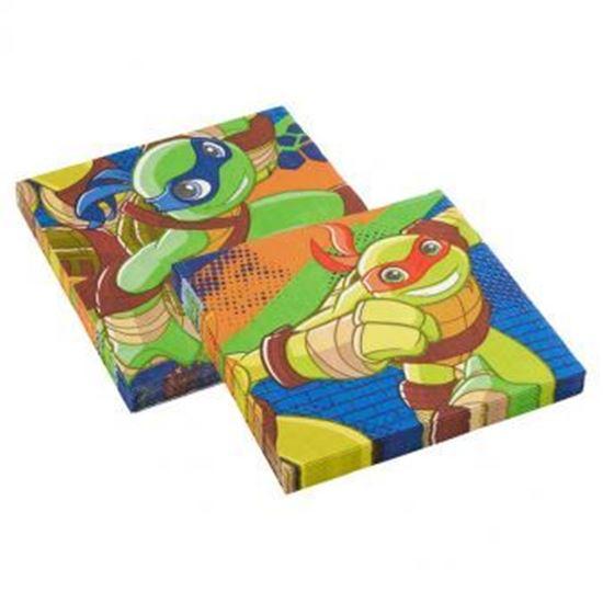 Afbeelding van Servetten 33x33 cm Ninja Turtles 20 stuks