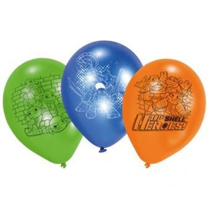 Afbeeldingen van Ballonnen Ninja Turtles 6 stuks