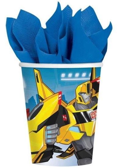 Afbeelding van Bekertjes Transformers 266ml 8 stuks