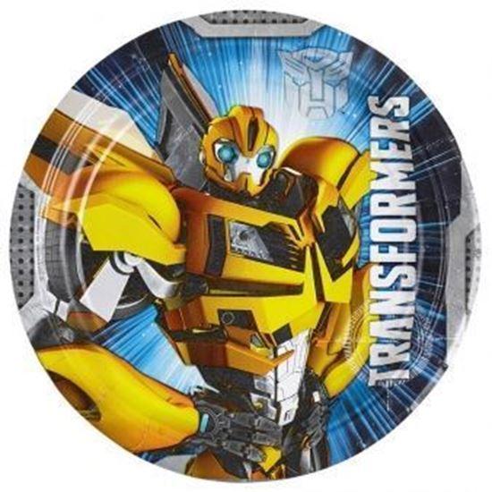 Afbeelding van Bordjes 18cm Transformers 8 stuks
