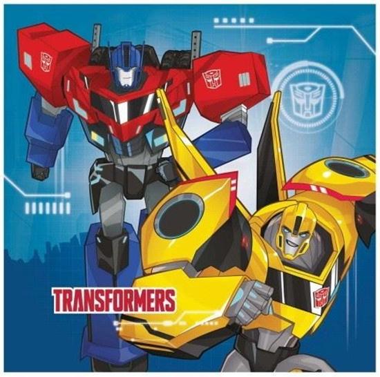 Afbeelding van Servetten Transformers 20 stuks