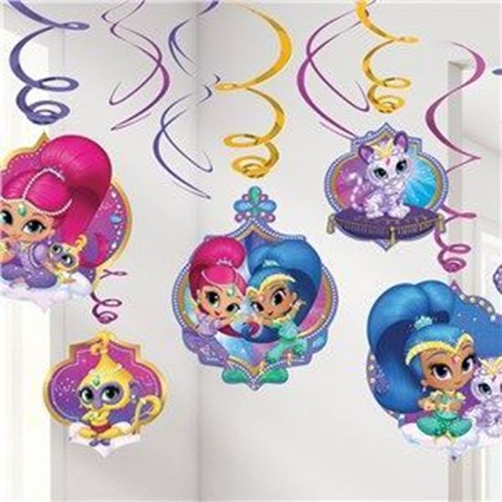 Afbeelding van Shimmer and Shine Swirl decoratie