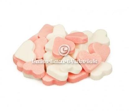 Afbeeldingen van Hartjes roze/wit